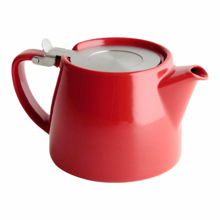 Red Tea Pot for Infusing Loose Leaf Tea