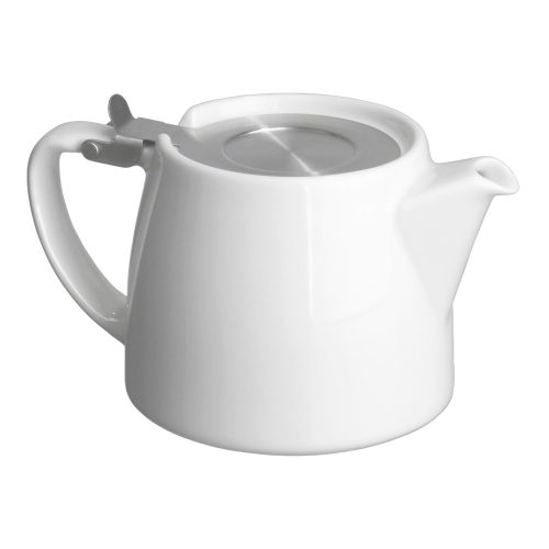 White Tea Pot for Infusing Loose Leaf Tea