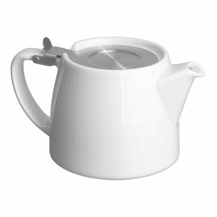 White Tea Pot for Infusing Loose Leaf Tea