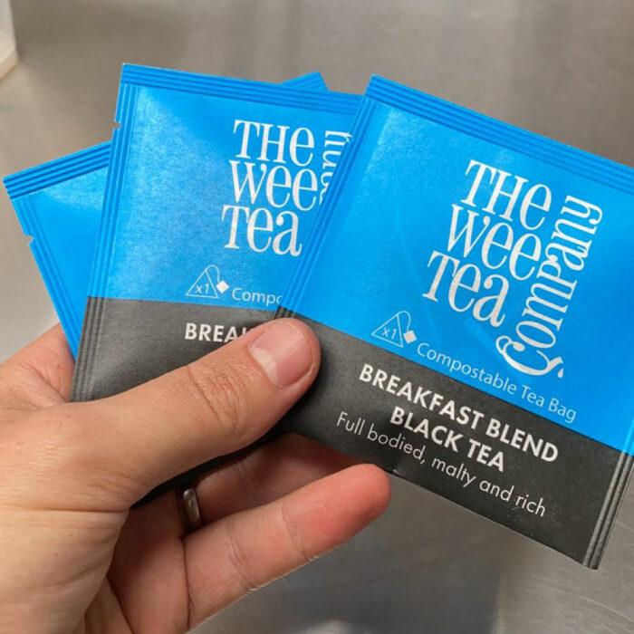 Wee Tea Company Breakfast Tea Individually Wrapped Biodegradable Tea Bags