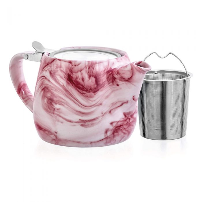 Charon Loose Leaf Teapot - red