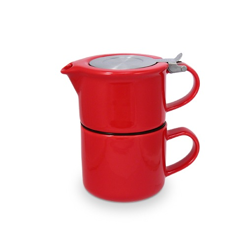 Teapot and Mug Set - red