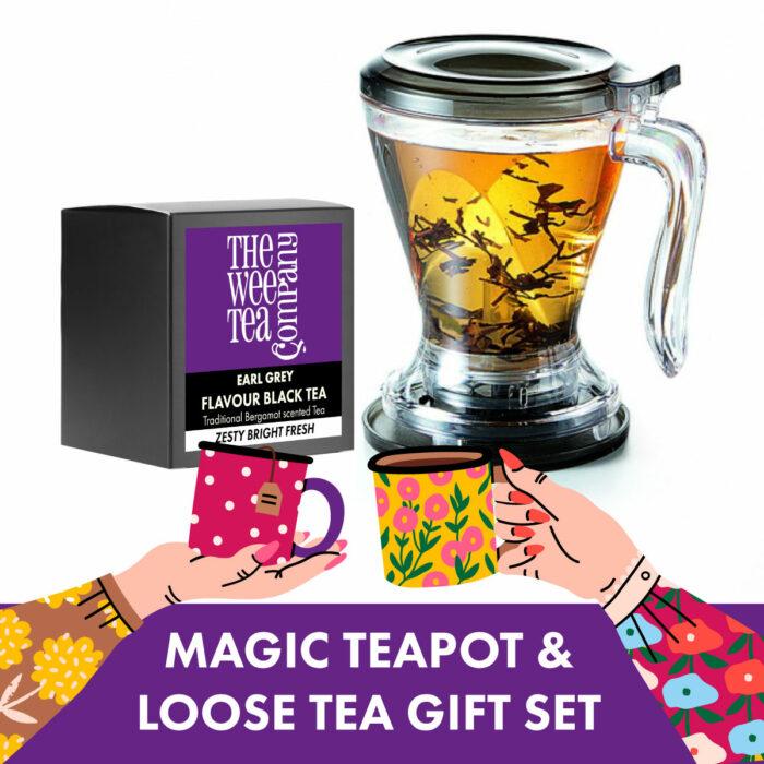 Magic Tea Pot Gift Set and Loose Leaf Tea