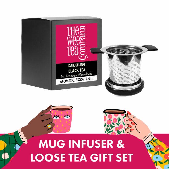 Mug Infuser and Loose Leaf Tea Gift Set