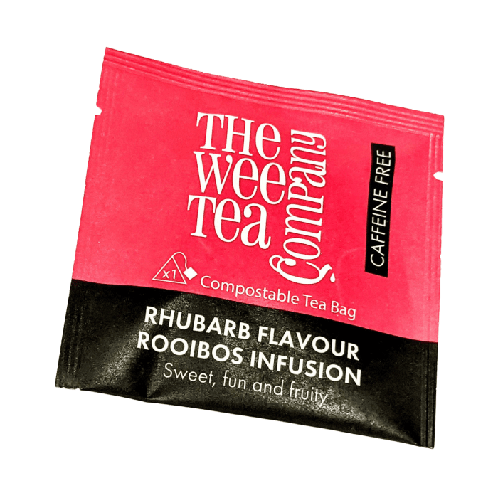 Individual Wrapped Rhubarb Rooibos Tea Bags